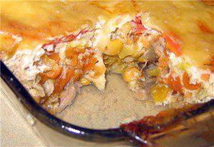 Запеканка из цветной капусты и курицы